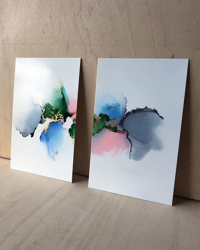 Twins. 👯‍♀️ I've gotten a few minis ready for panels and resin. A welcome weekend activity after this first week of teaching! . . . #alcoholink #alcoholinks #alcoholinkart #inkart #fluidart #abstractart #abstractinkartist #fluidart #fluidpainting #instaartist #abstractpainter #inkpainting #copicvariousinks #yupo #smallbusinessowner #handmadeart #makersgonnamake #astuaryart #artistsofinstagram #artdaily #artistsoninstagram #artoninsta #communityovercompetition #originalart #artforsale #iteachart #artteacherlife #proudartteacher #vinestreetcatco