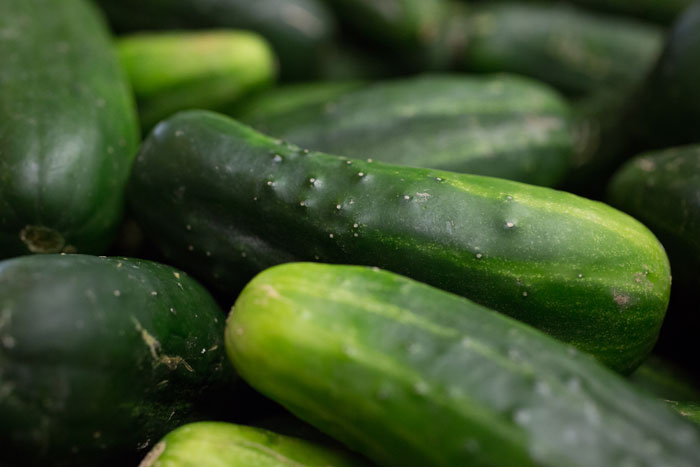 We start with fresh cukes...