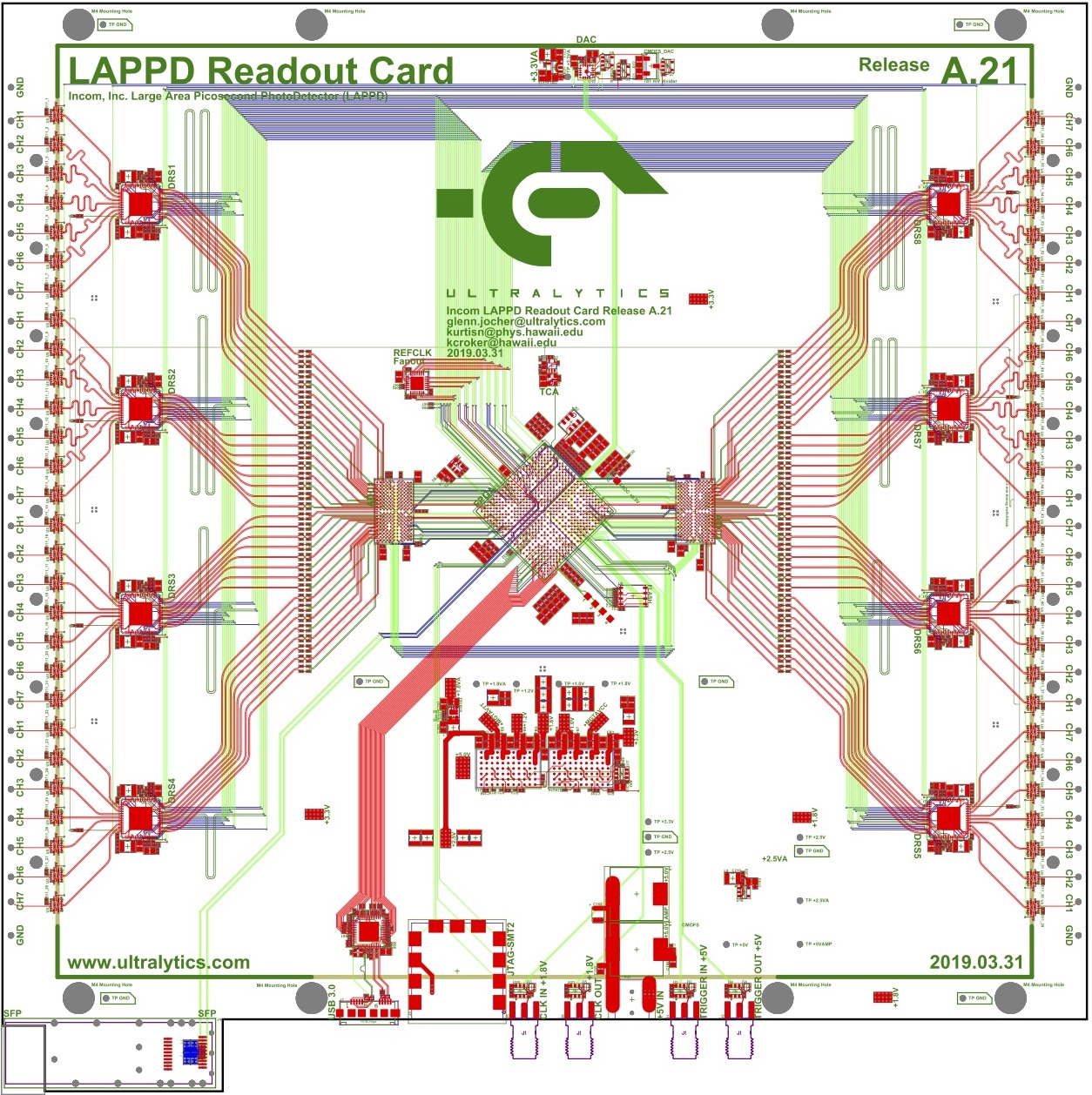 LAPPD Readout card schematic and layout document.  DOWNLOAD >