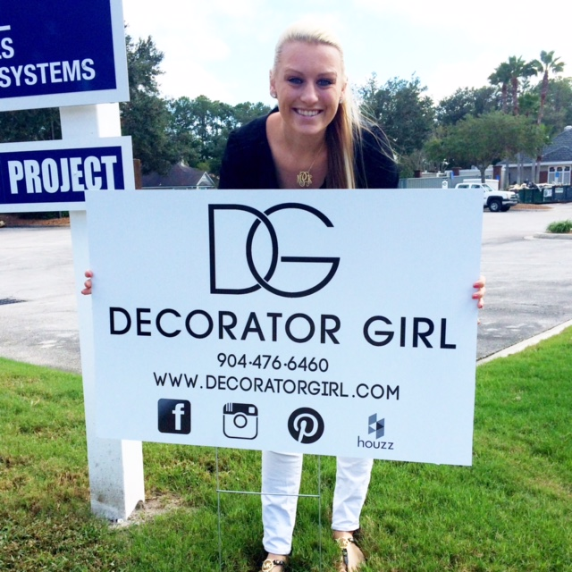 via Decorator Girl - The First Decorator Girl Sign!