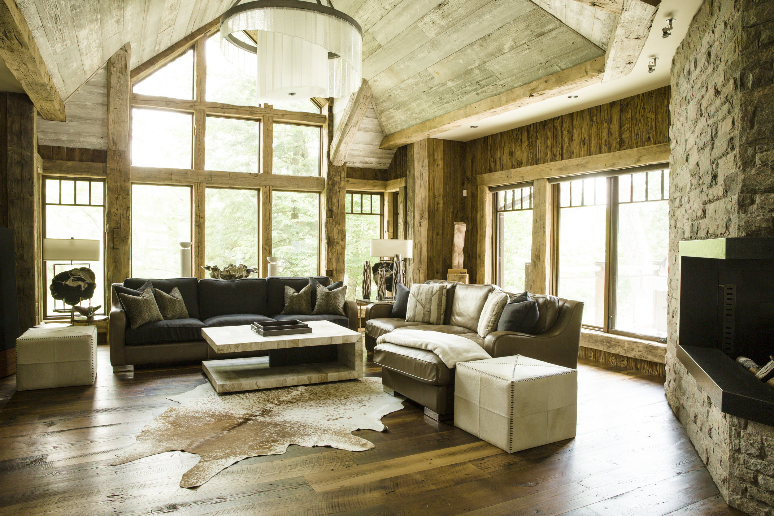 rustic interior design living room