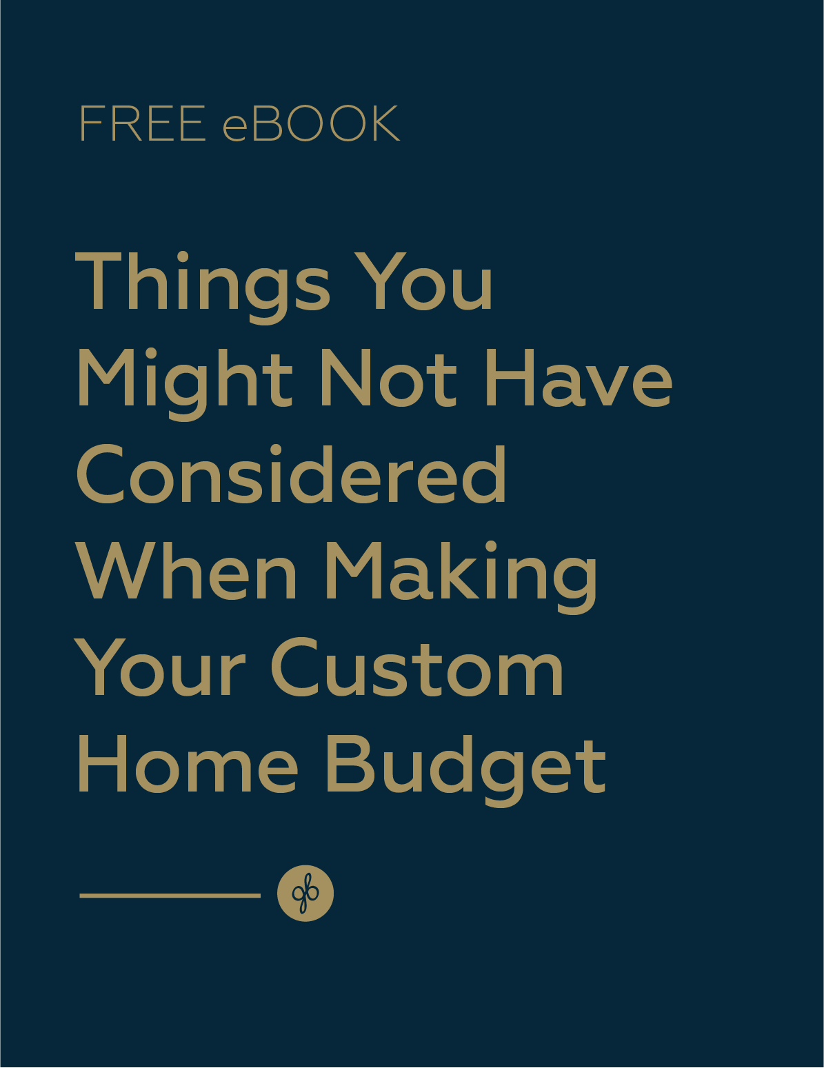 guide for making custom home budget free ebook