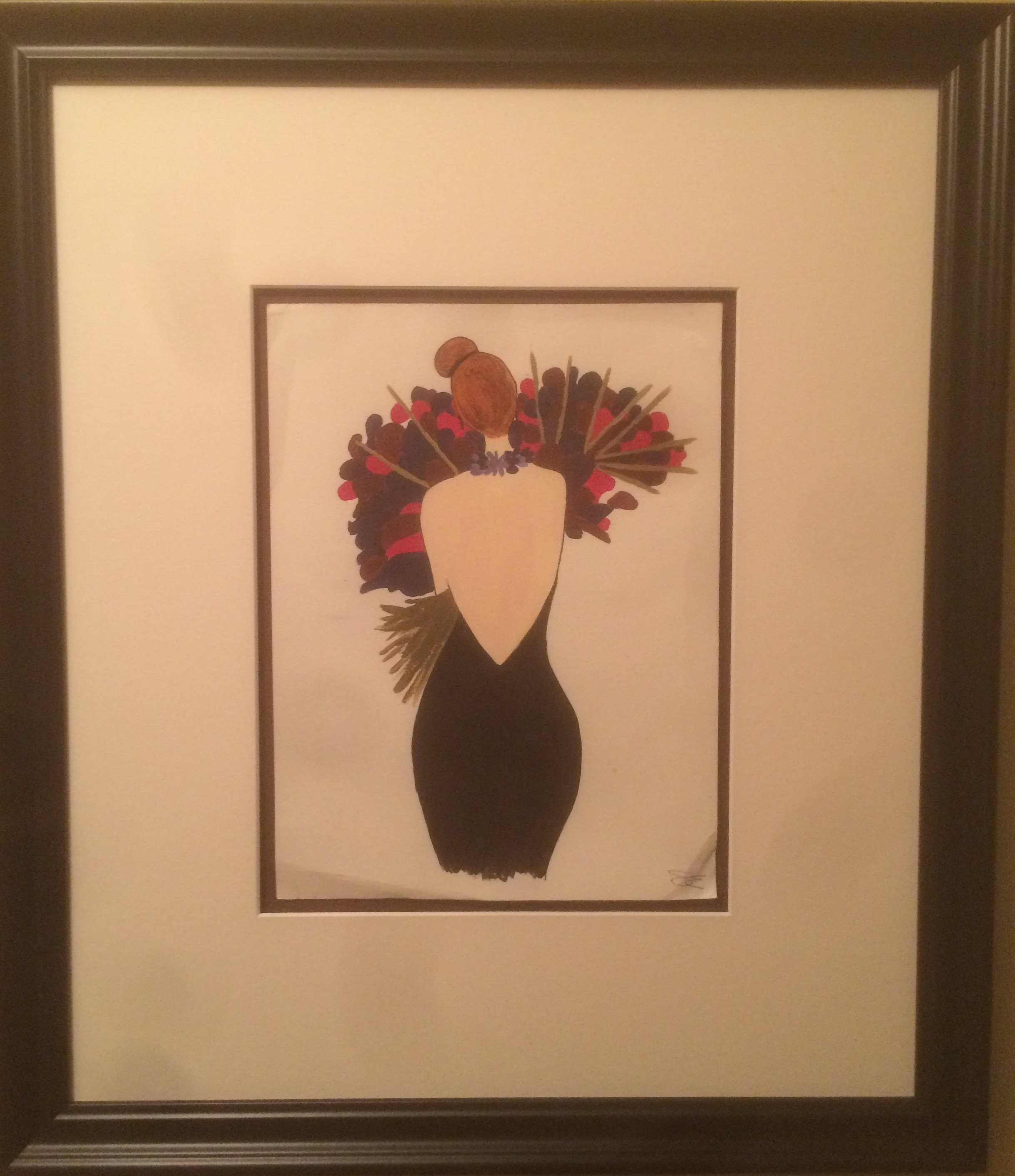 A poor photograph of a stunning Sarah Edwards original that is hanging on my wall.
