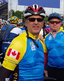 The annual Ride to Conquer Cancer in memory of my sister and dear friends who are no longer with us. (Thank you to John, Kevin and Mike who ride with me)