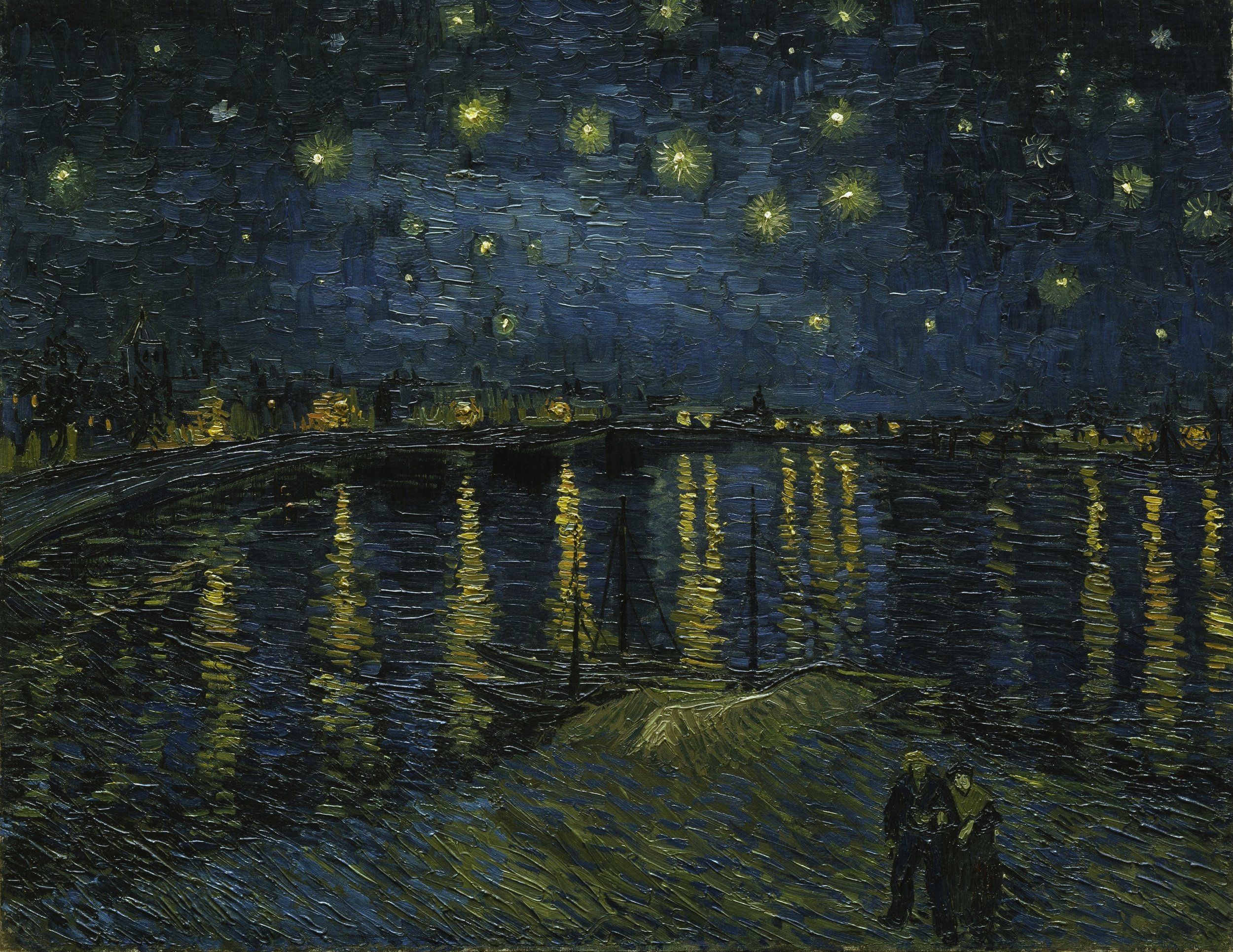 Starry Night Over the Rhone ar Arles by Vincent Van Gogh