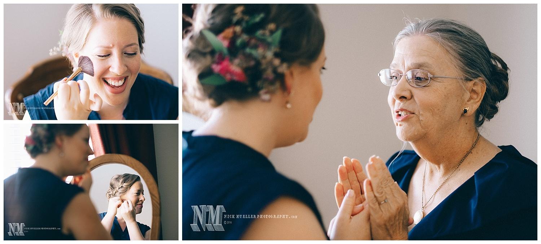 Bridal prep before wedding in Riverside CA