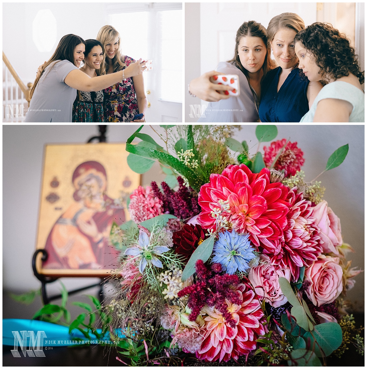 Brides Bouquet in Front of Theotokos Icon
