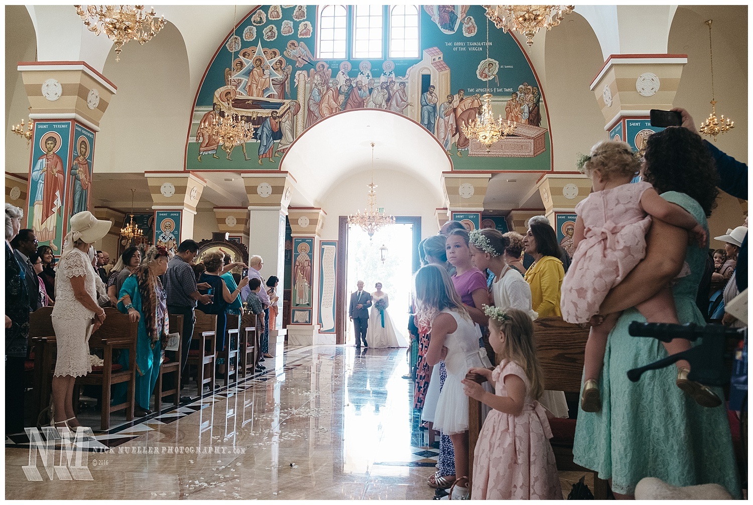 The Bride Enters St Andrew Orthodox Church