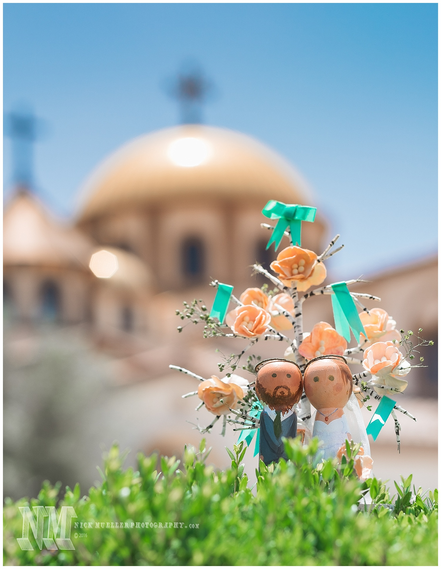 Cake Ornament with Church Domes in Background