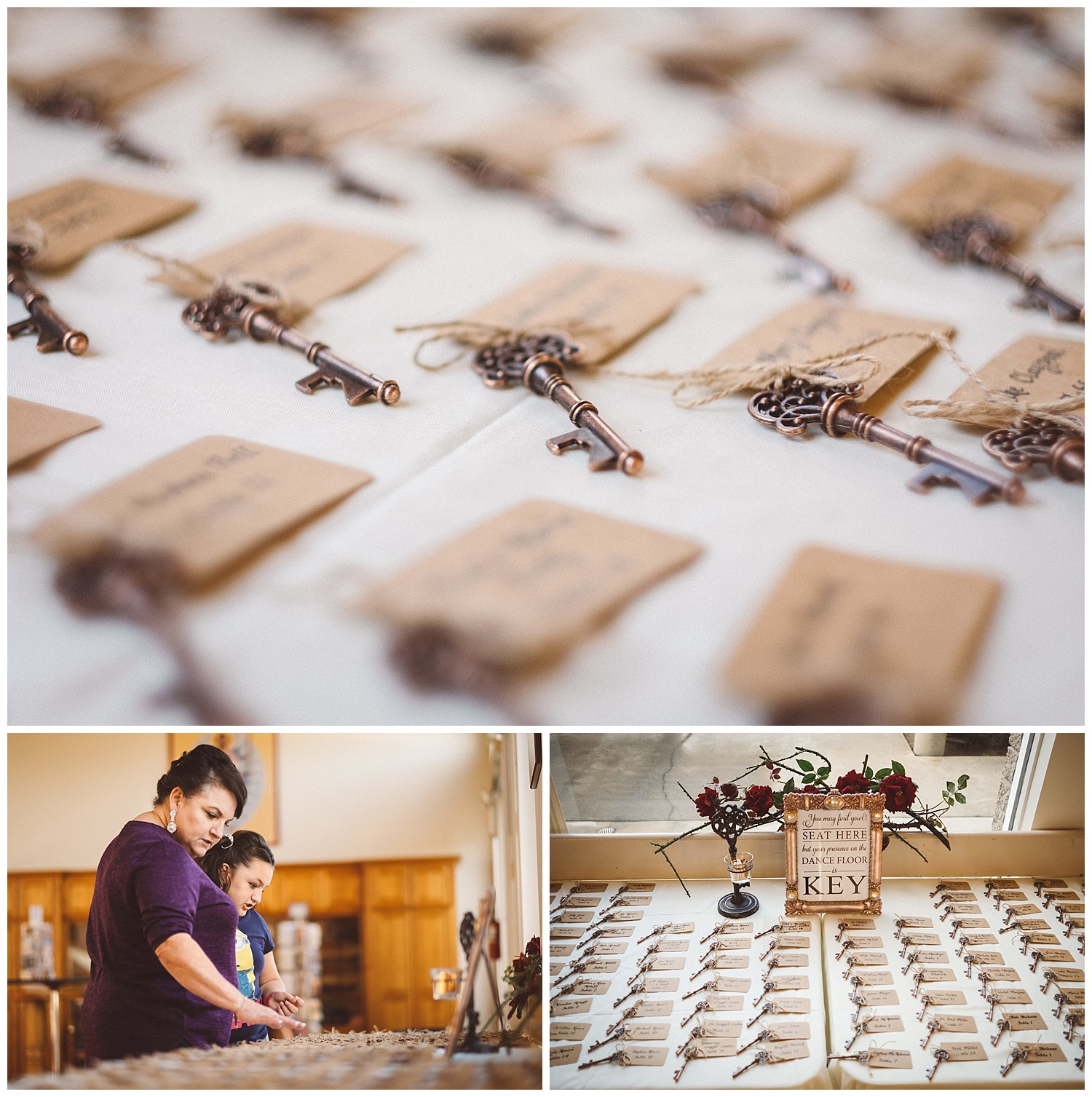 Wedding Decor using Old Keys
