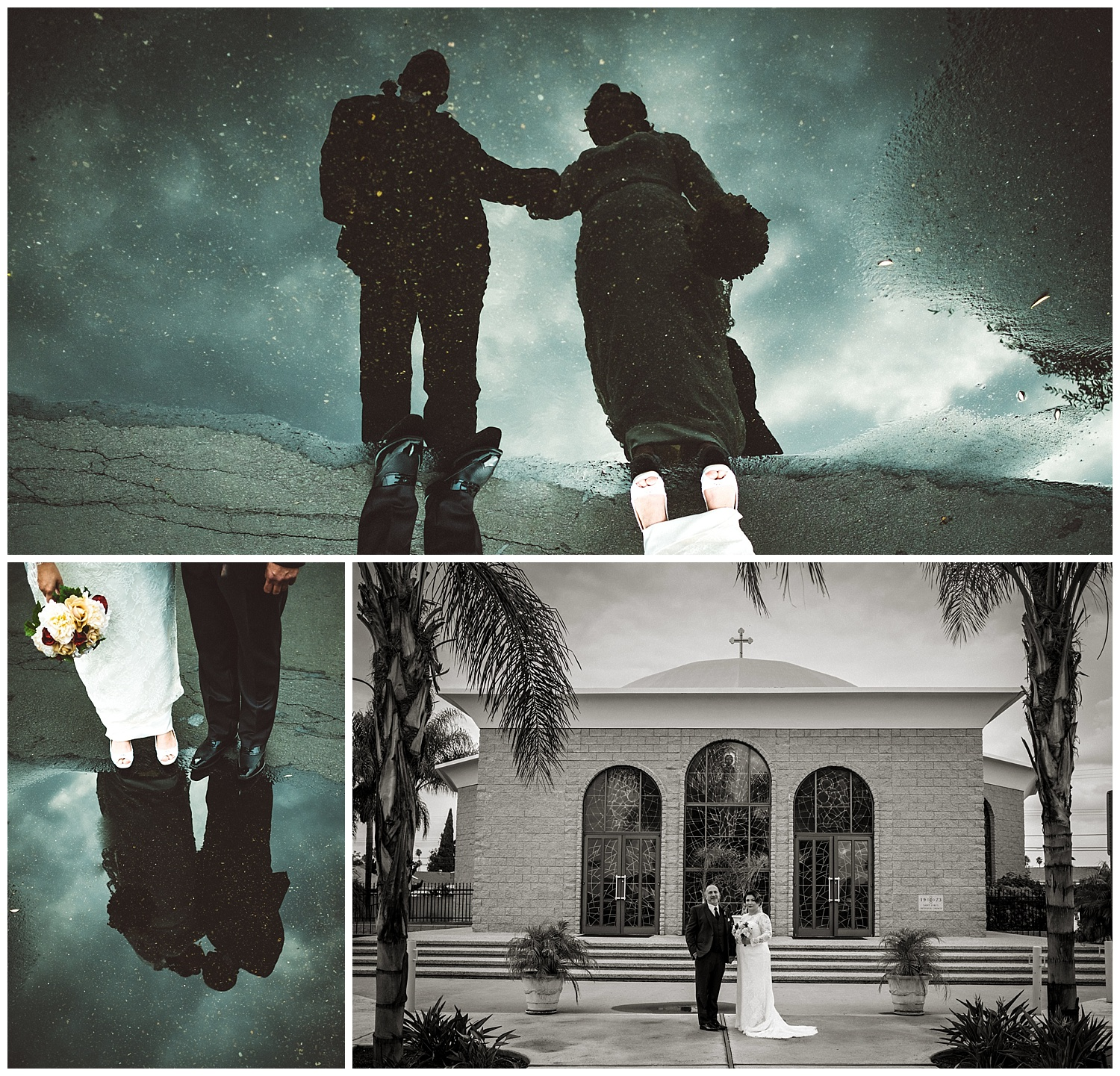 Wedding Puddle Portraits