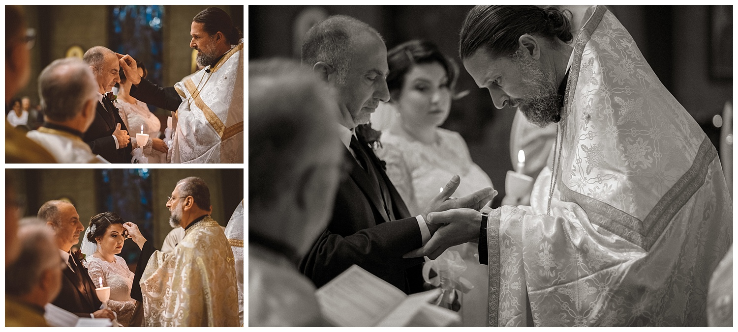 Fr. Josiah Trenham places ring on Groom's hand