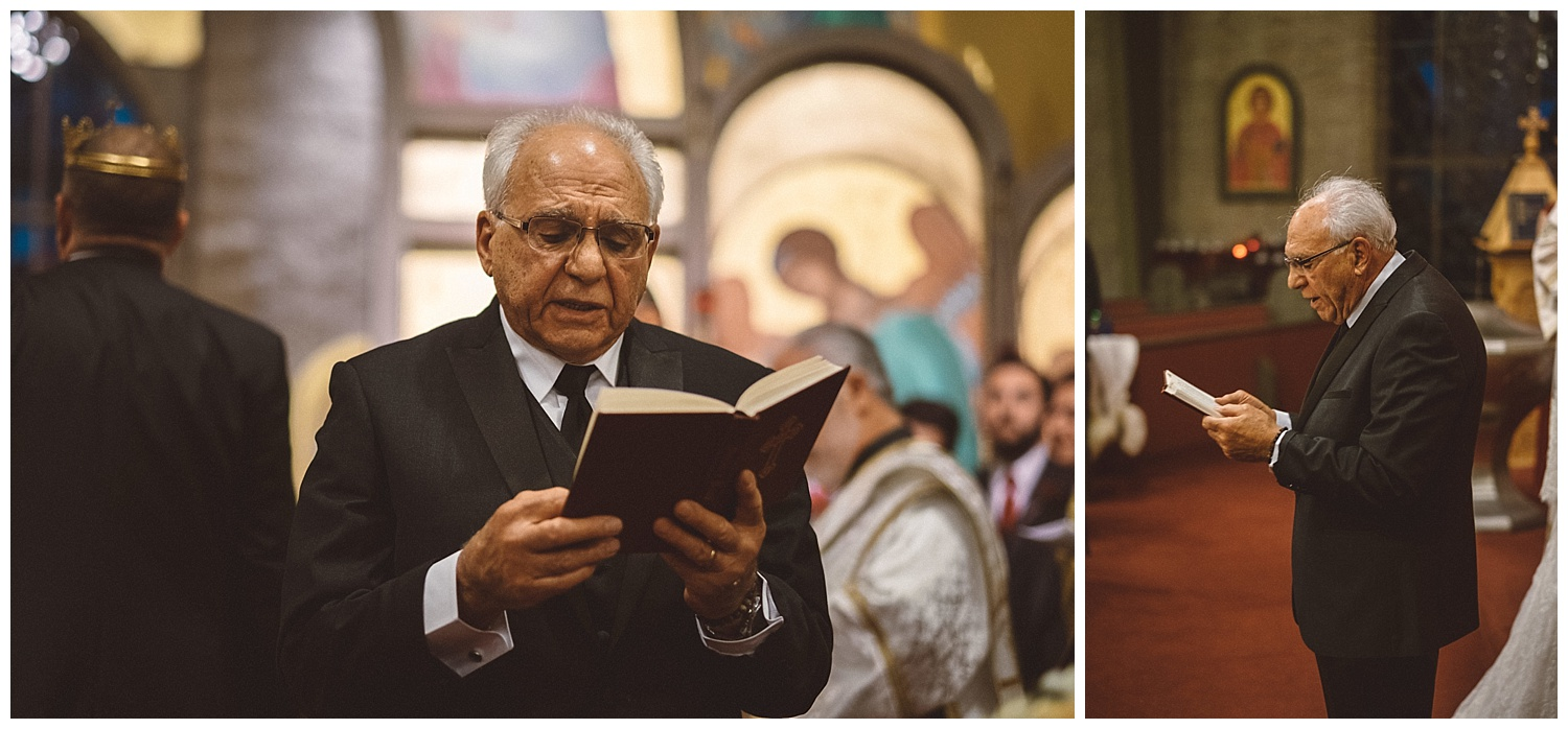 Reading of the Epistle at Orthodox Wedding service