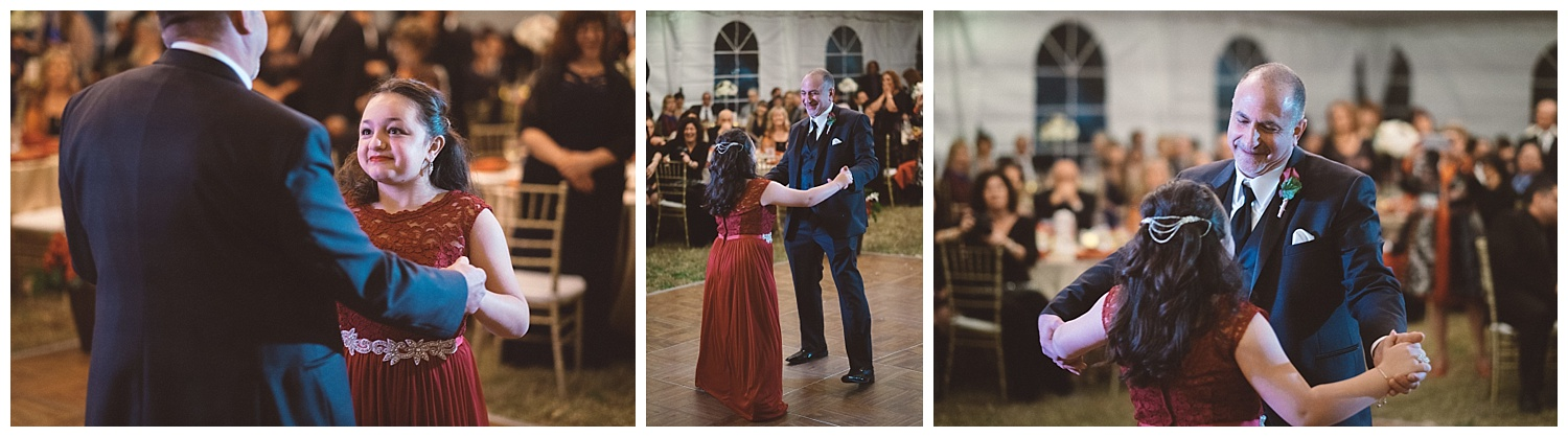 Groom Dances with Step-Daughter at Wedding