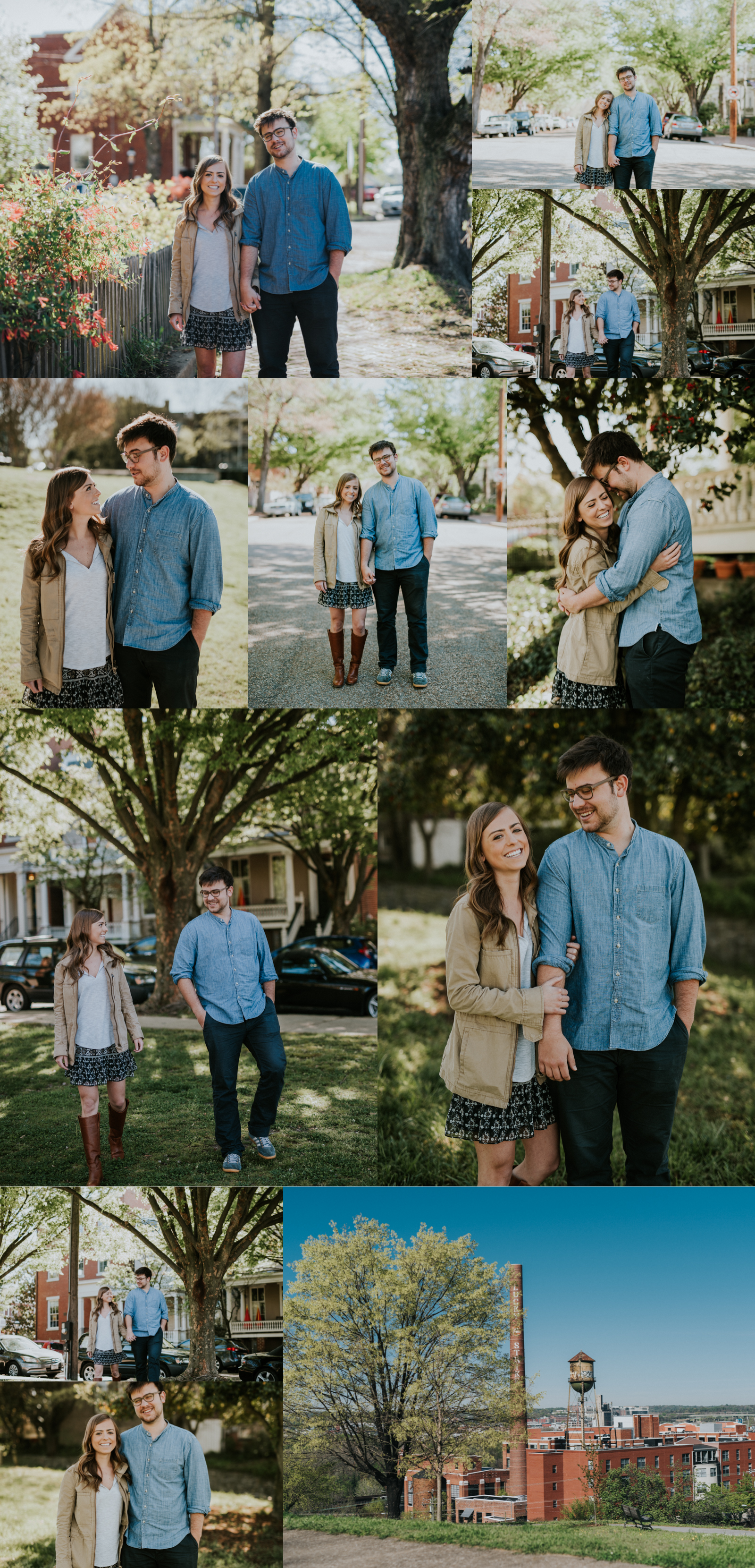 Libby Hill, Richmond Virginia engagement and wedding photographer.