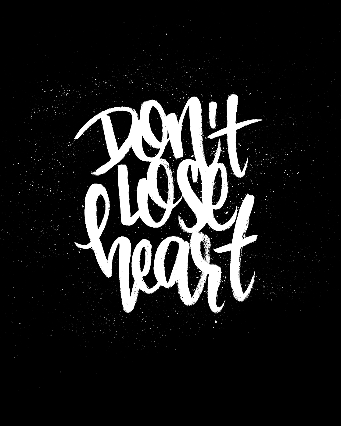 Don't Lose Heart - Lettering by Wink & Wonder