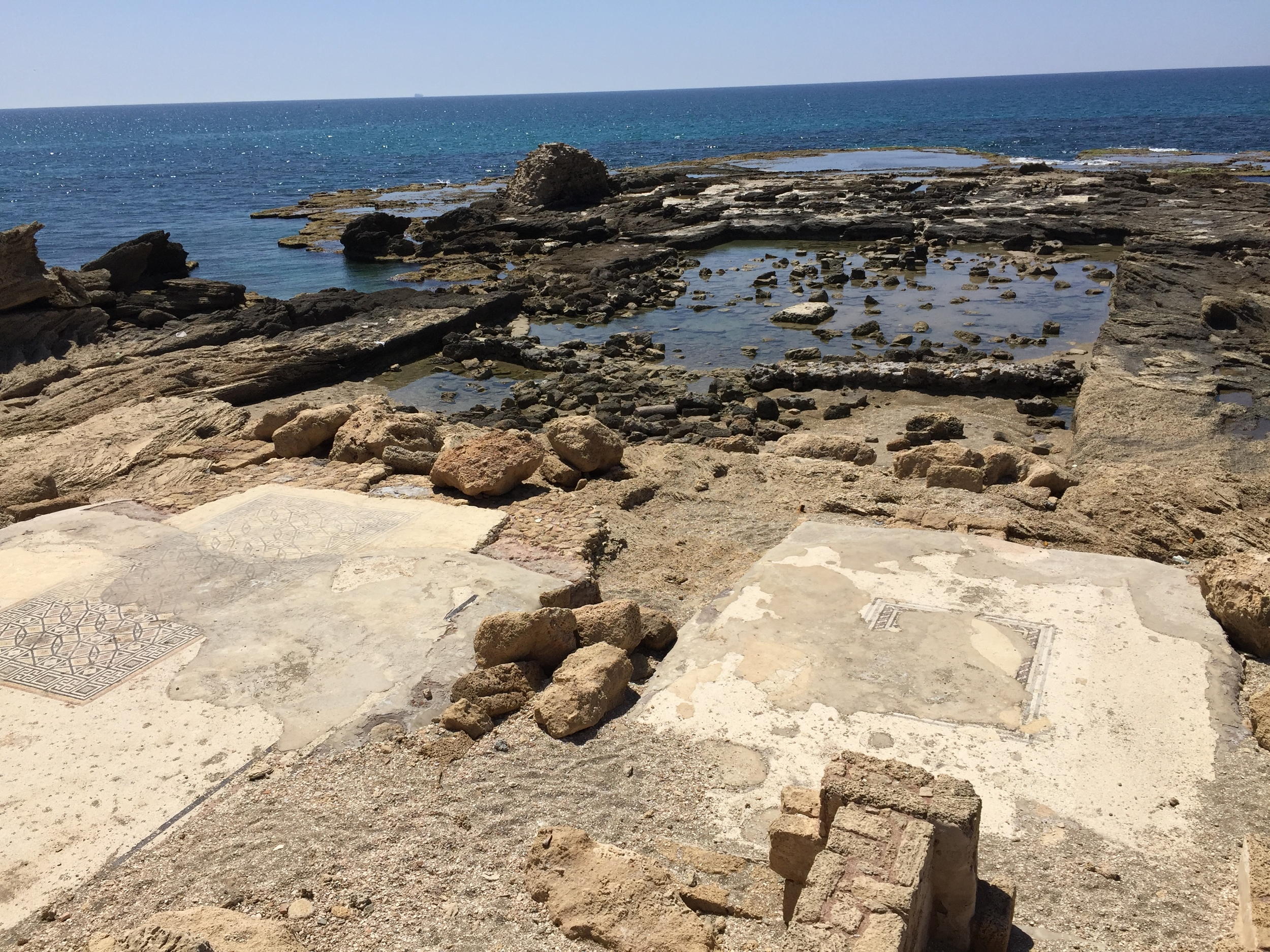 The remains of the harbor at Cesarea