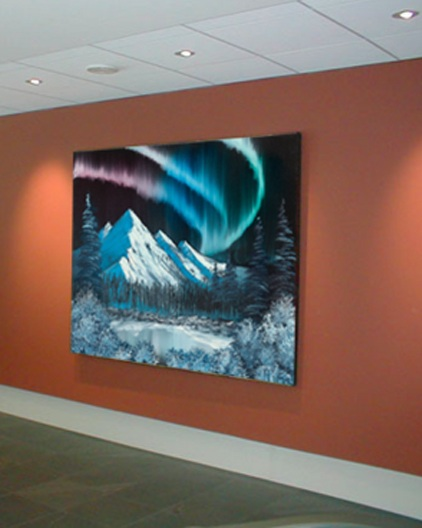 """Test styles, sizes and color schemes of art in your office without commitment to any one piece. Subscribe for variety, or to take potential pieces for a """"test drive"""". -"""