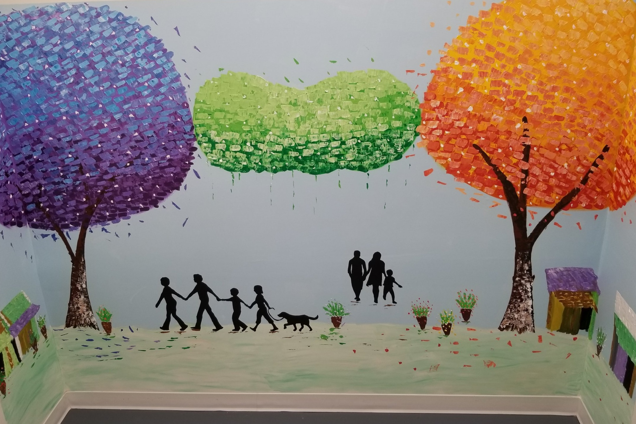 Wall murals painted to match your companies mission and values -