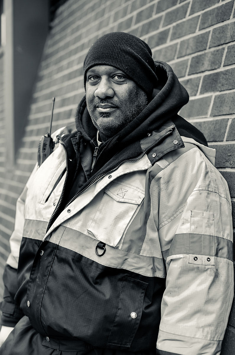 52/365 - While I was out walking aroundBaltimore City during my internship I ran across this kind gentlemanand his co-worker. Their work van had broken down on the side out in front of the Baltimore Sun building. He was kind enough to let me photograph him while he waited for help to come by!