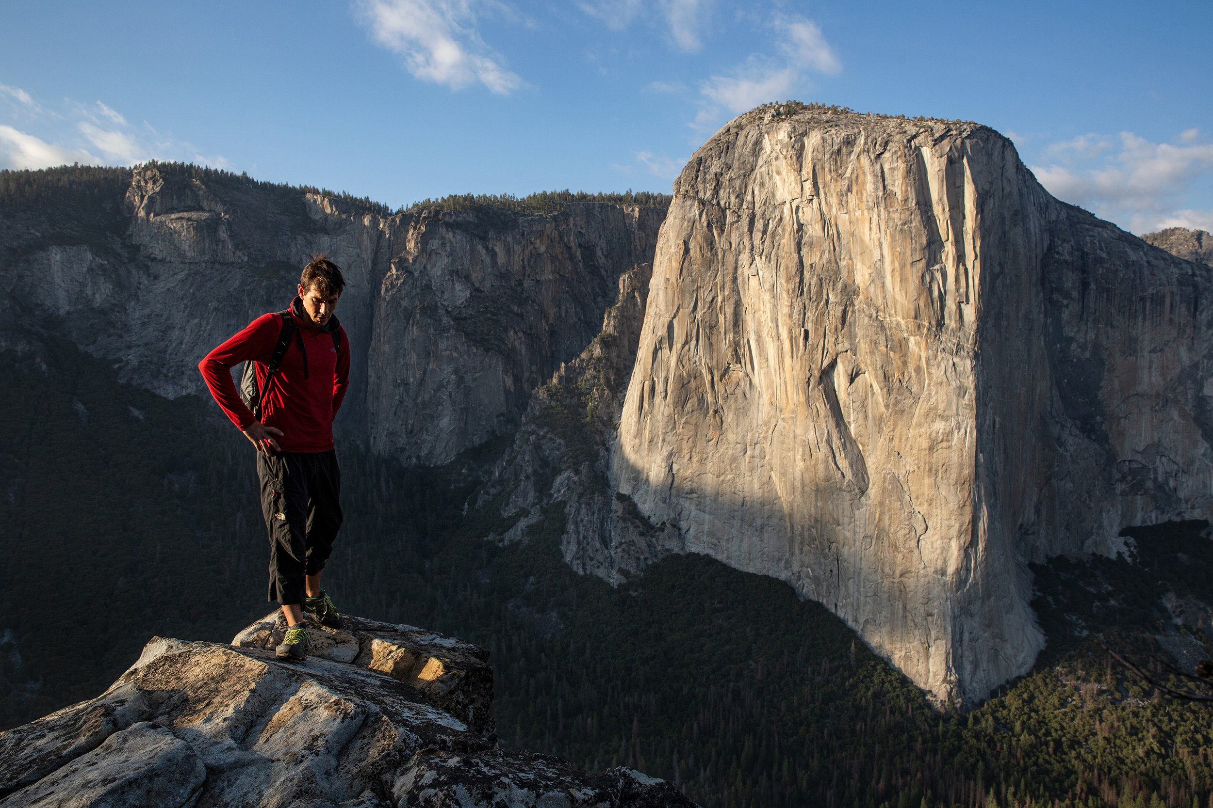 Alex Honnold in front of El Capitan