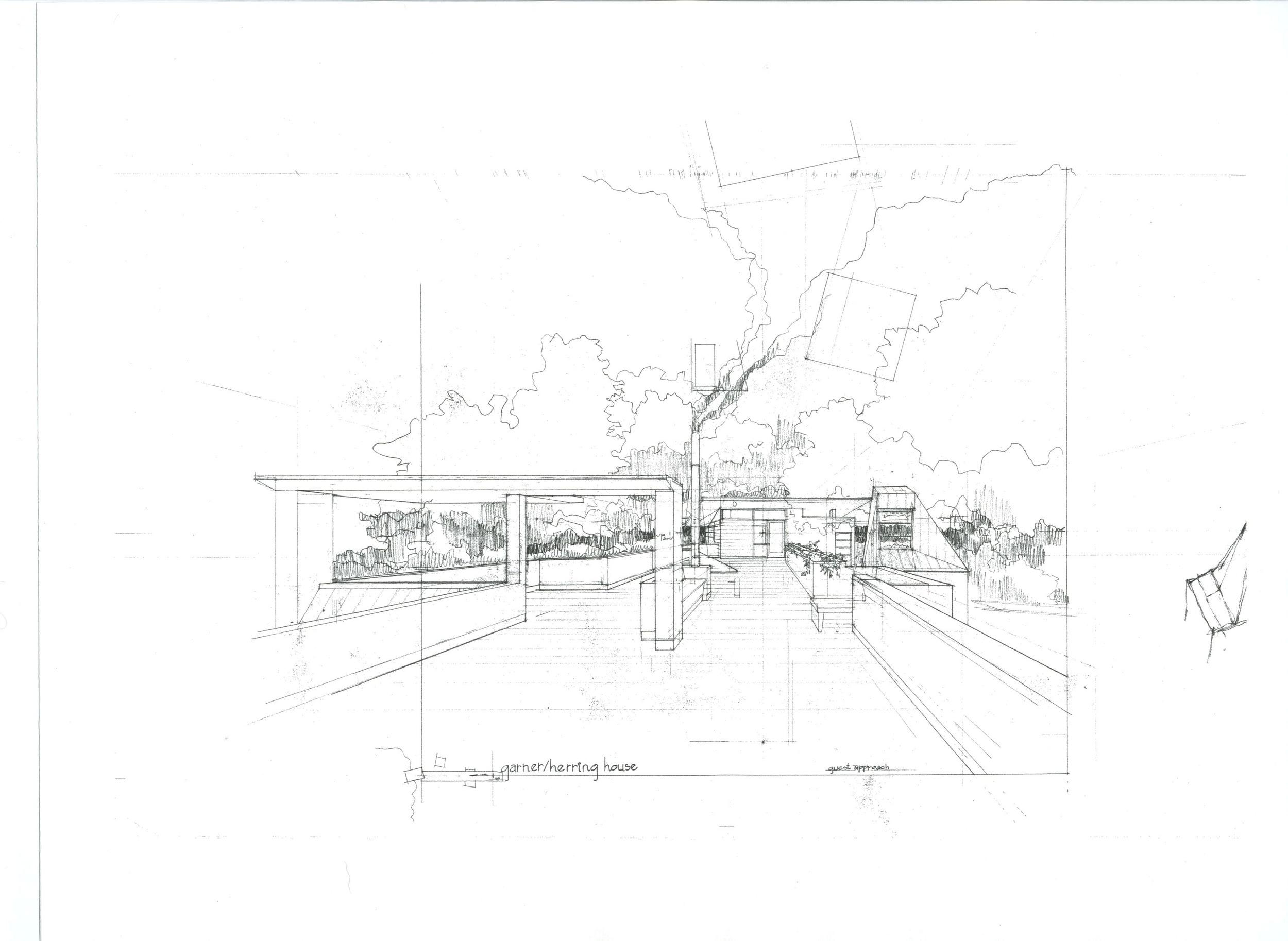 Garner Herring House Concept Sketch
