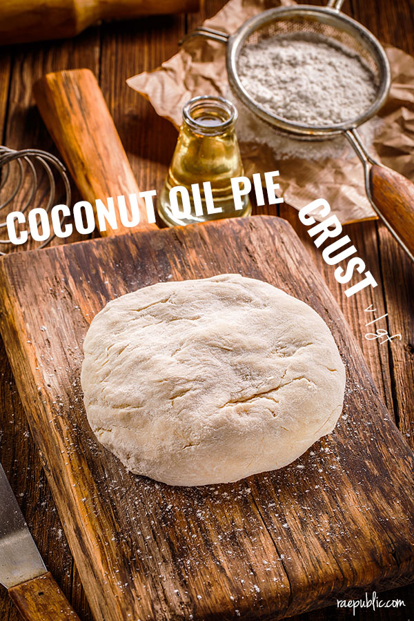 Easy, 4 ingredient vegan pie crust. This plant-based pie dough is flaky and soft all at the same time and literally melts in your mouth. It is delicious in both for sweet or savory vegan recipes.