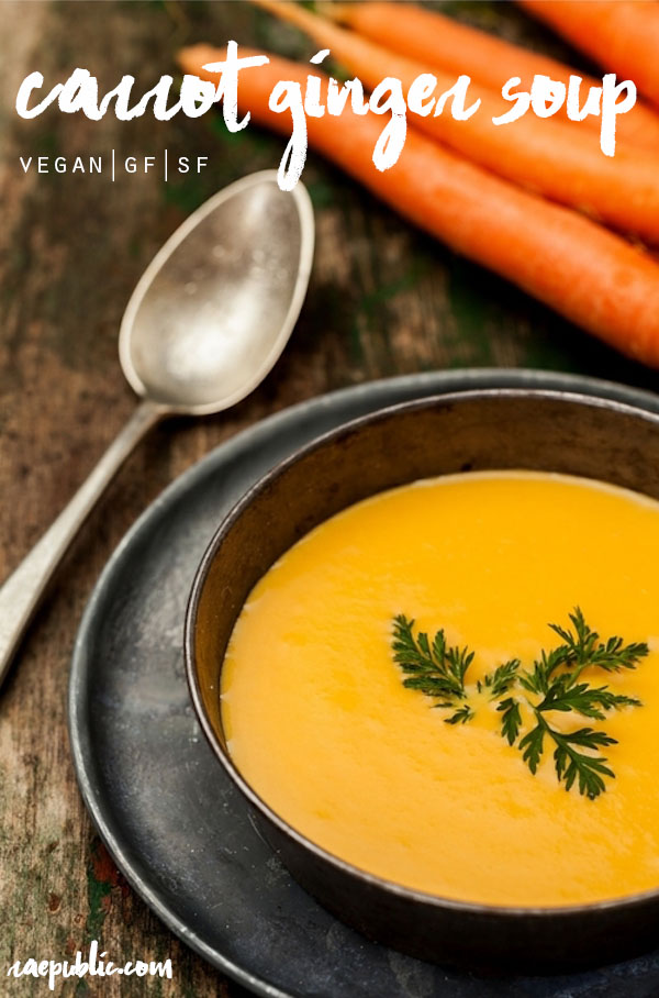Easy vegan CARROT GINGER SOUp that is so delicious it might become your new favorite soup. Made with only the best plant-based ingredients all can enjoy.