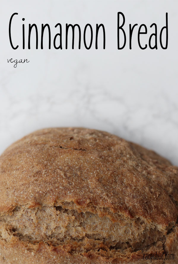 Easy peasy vegan cinnamon bread. Made with delcious cinnamon spice this plant-based bread is full of anti-oxidants.