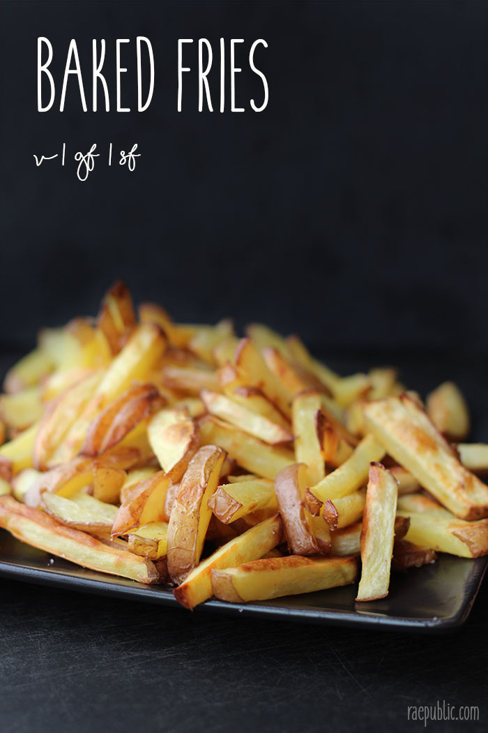 Easy baked vegan fries that are so easy to make that it might become an everyday treat.