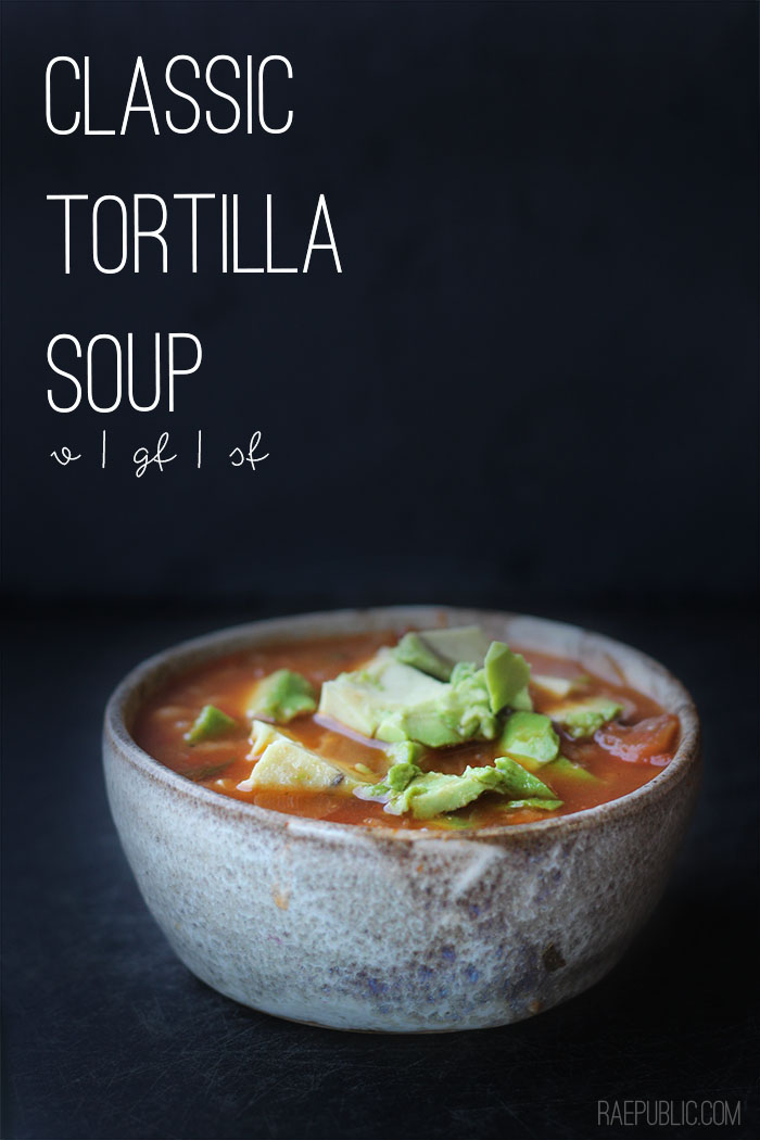 Easy plant based tortilla soup that simply skips the chicken because seriously, it's not needed. This delicious plant based soup is gluten free and dairy-free so all can enjoy.