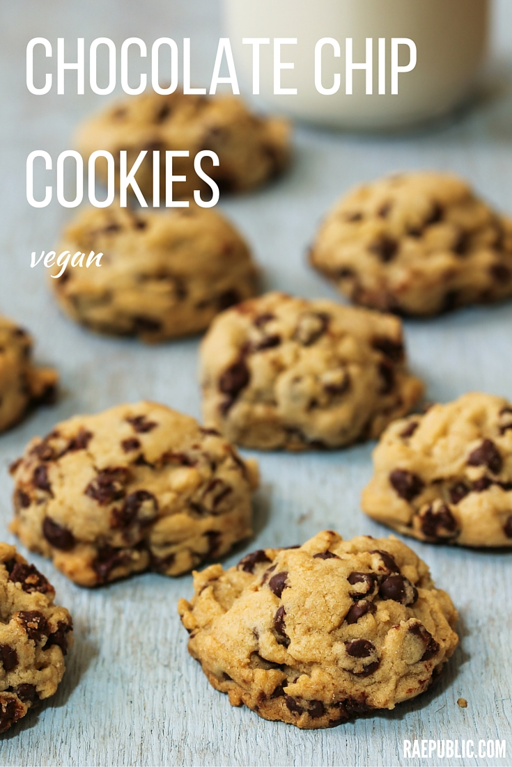 Tasty vegan Chocolate Chip Cookies that are super easy to make all can enjoy! These plant-based cookies are egg and dairy free. Yippee!