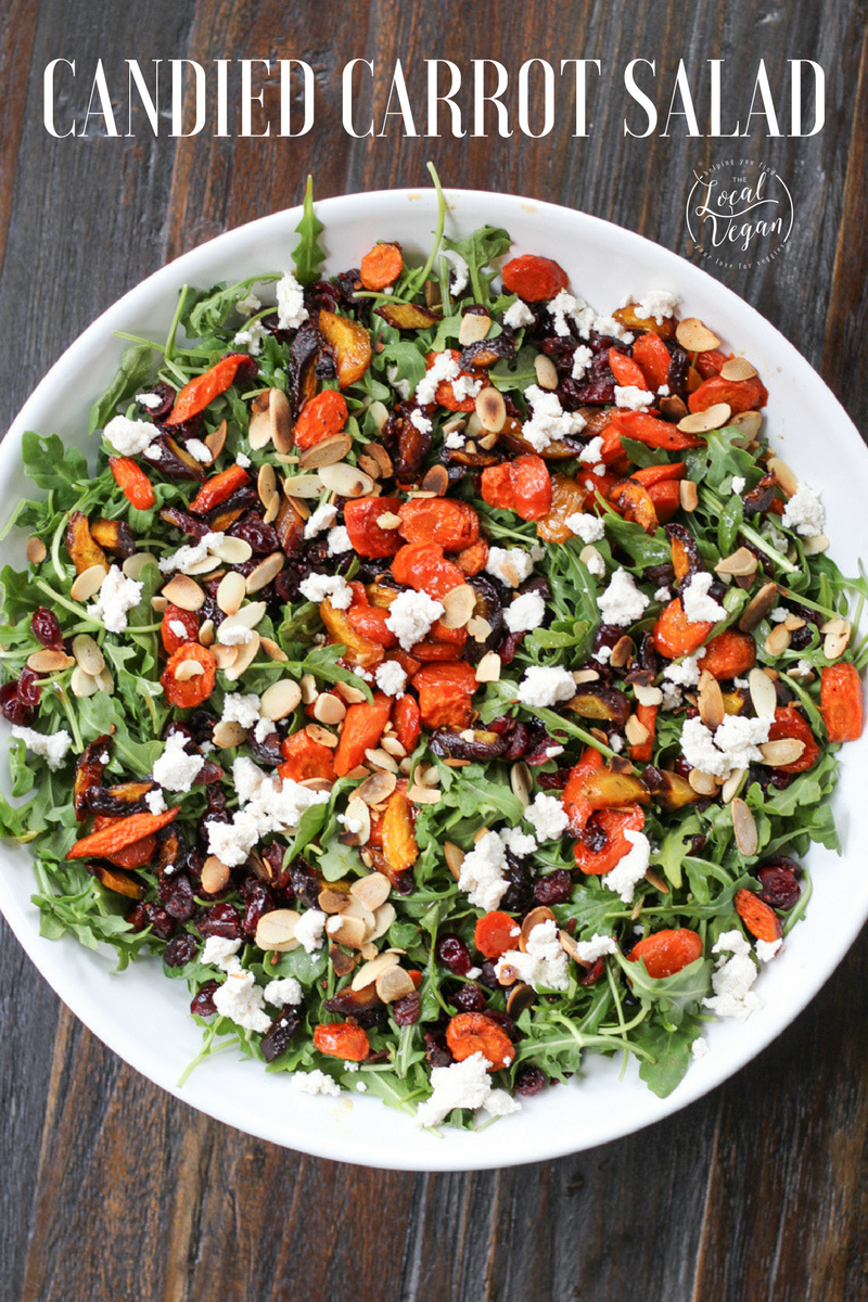 Delcious candied carrot salad and it's vegan!