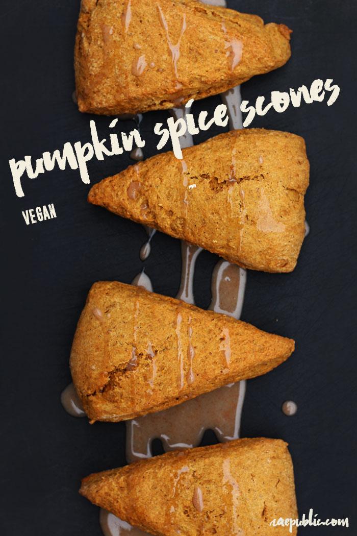 The best vegan pumpkin scones that can easily be made gluten free.
