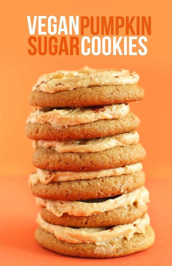 The best vegan pumpkin sugar cookies! nom nom nom