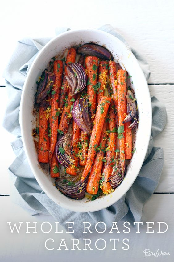 roasted carrots that are so naturally vegan..