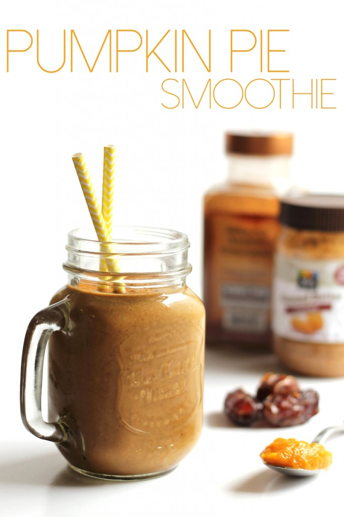 Vegan pumpkin pie smoothie! It's so good and it's dairy free and gluten free.