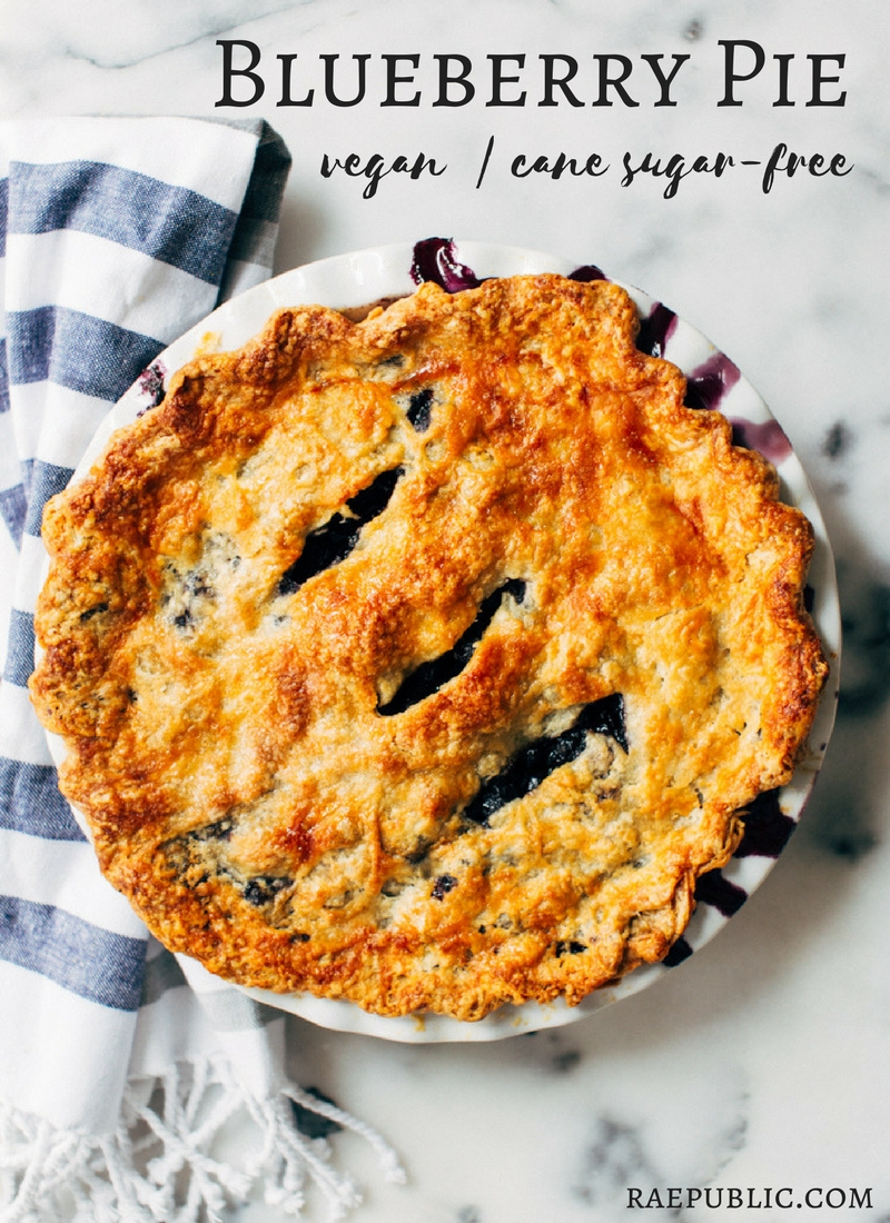 The greatest blueberry vegan pie ever.