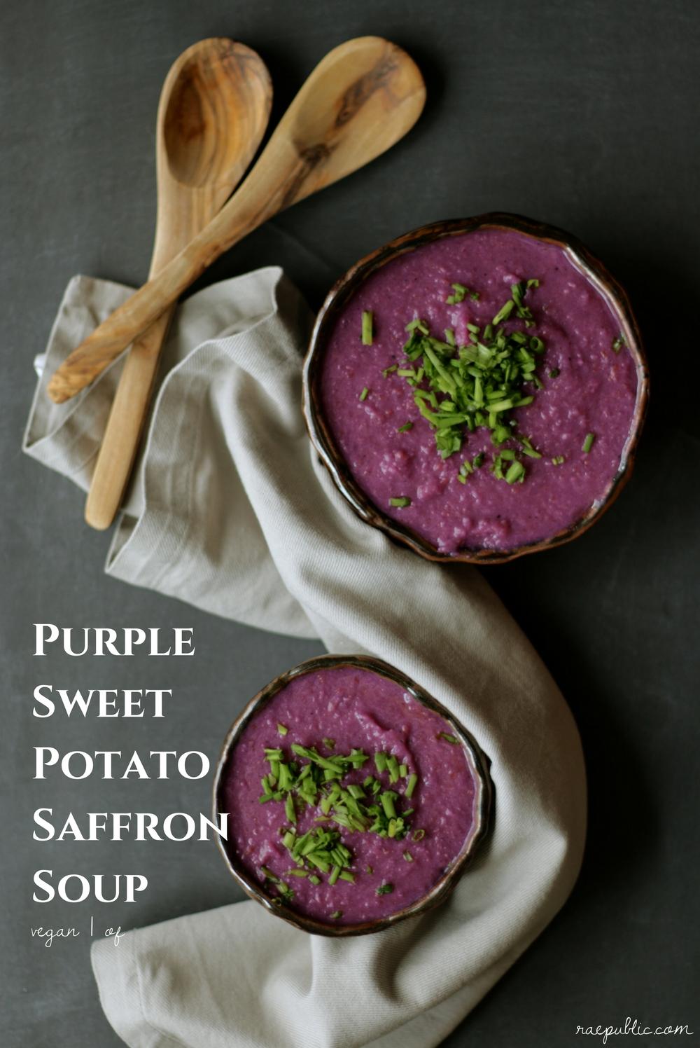 Vegan purple sweet potato saffron soup that simply hits the spot..jpg