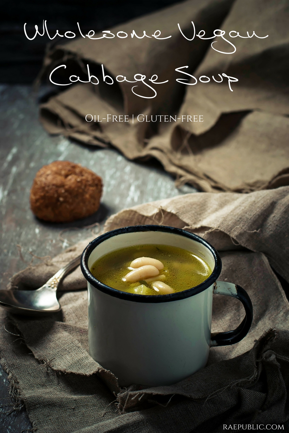 Wholesome vegan cabbage soup made with potatoes, onion, great NORTHERN beans and of course cabbage!