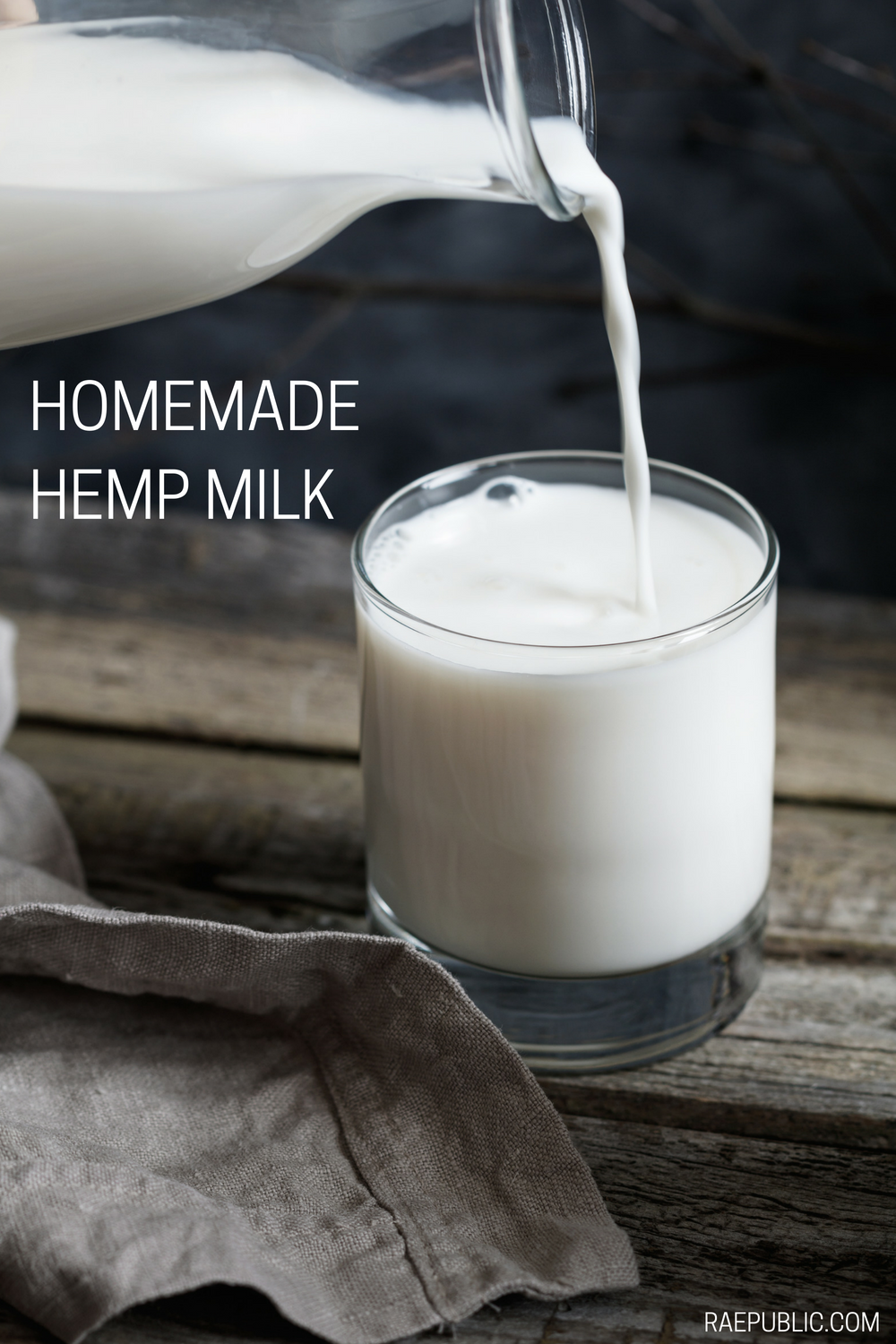 Easy homemade hemp milk that literally takes minutes to make. Delicious on it's own or over yoru favorite vegan breakfast.