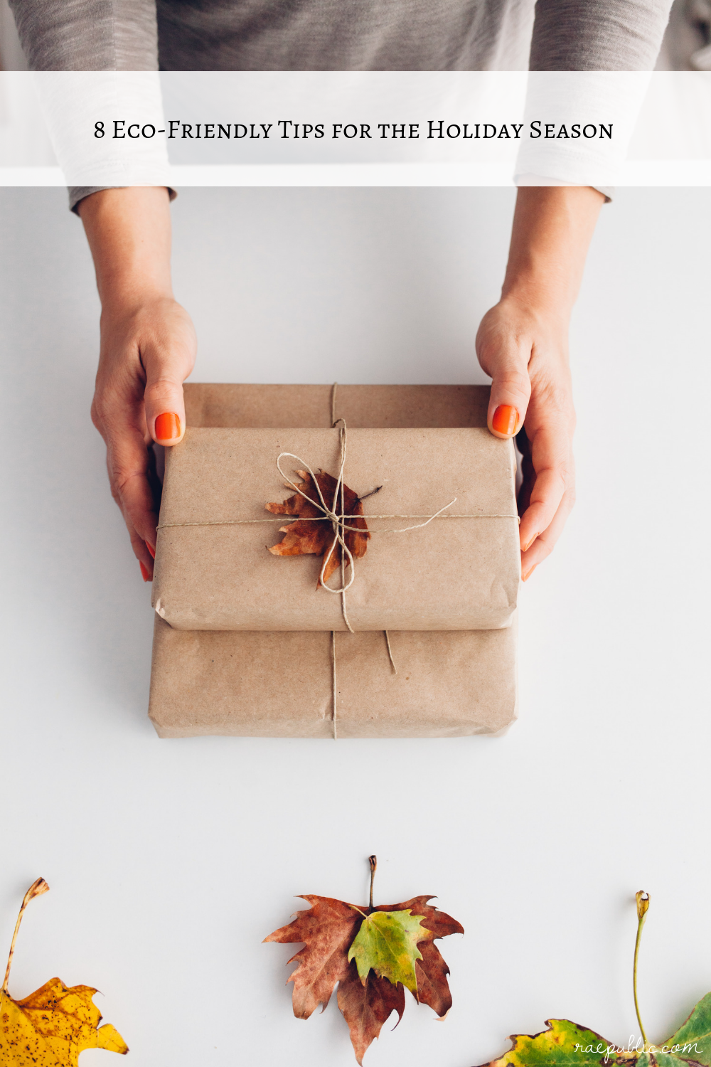 Eight eco friendly tips for the holiday season and some tips for gift giving in general.