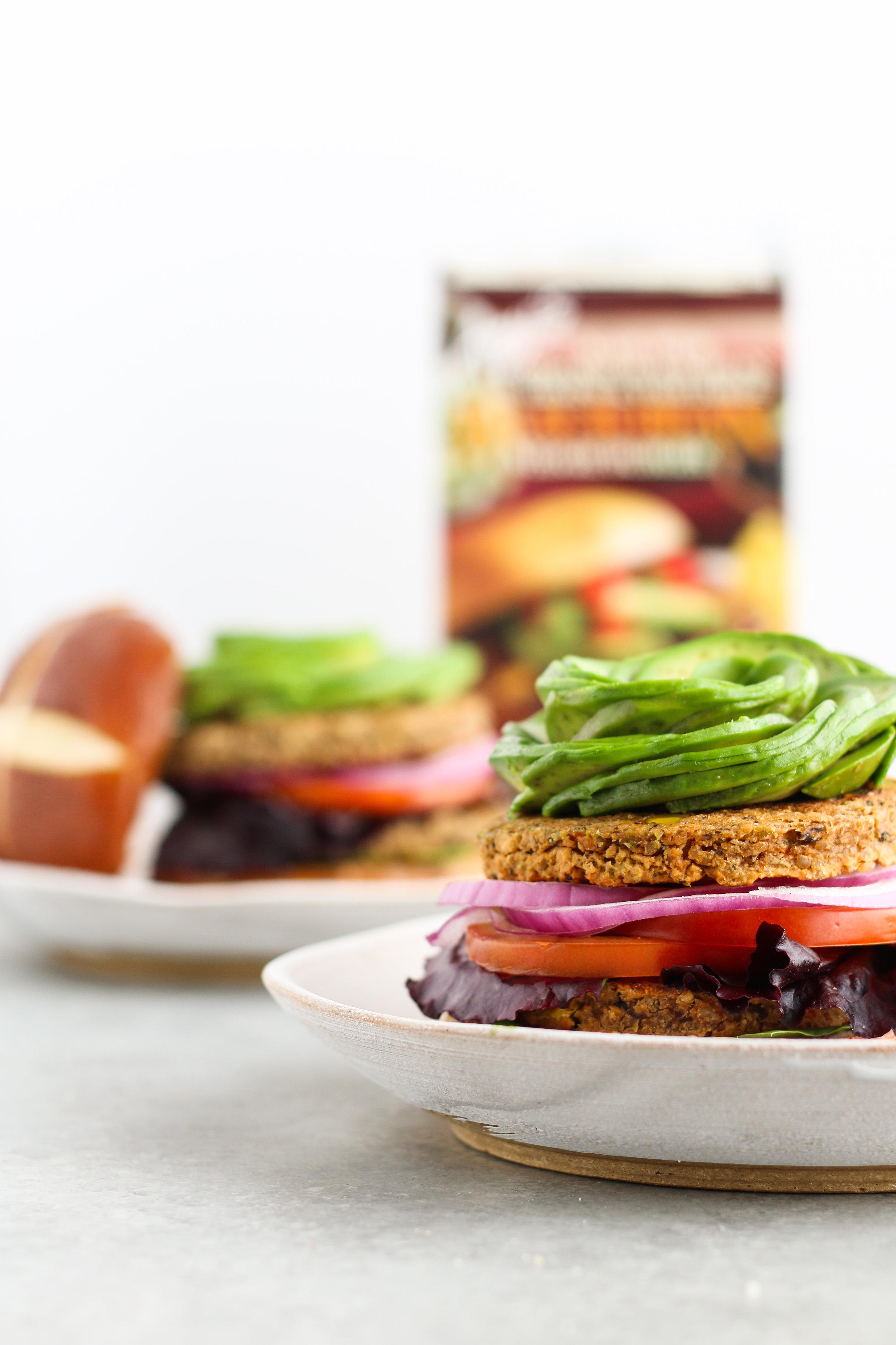 Amy's Kitchen Black Bean Burger -