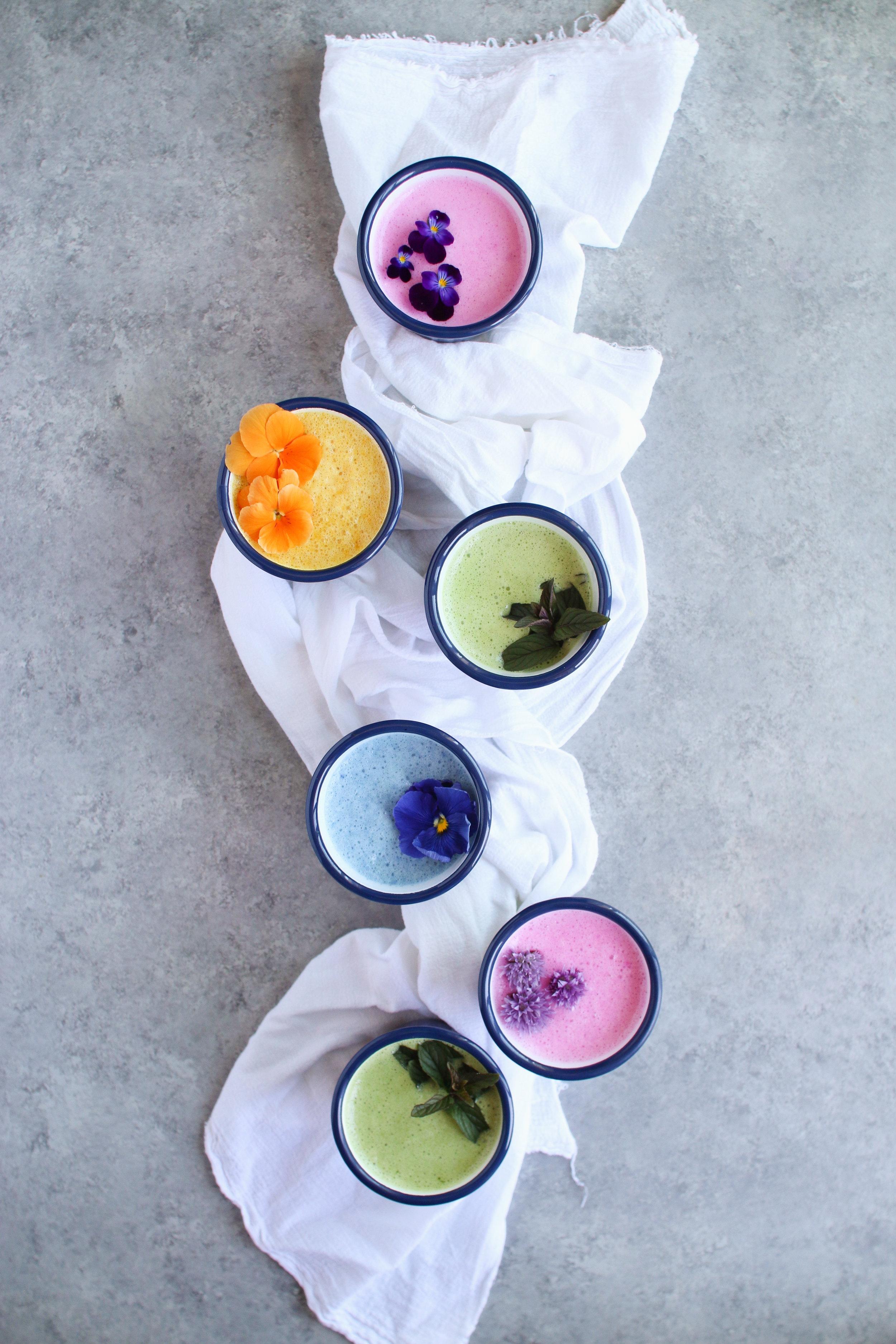 falcon enamelware Rainbow adaptogen iced lattes -