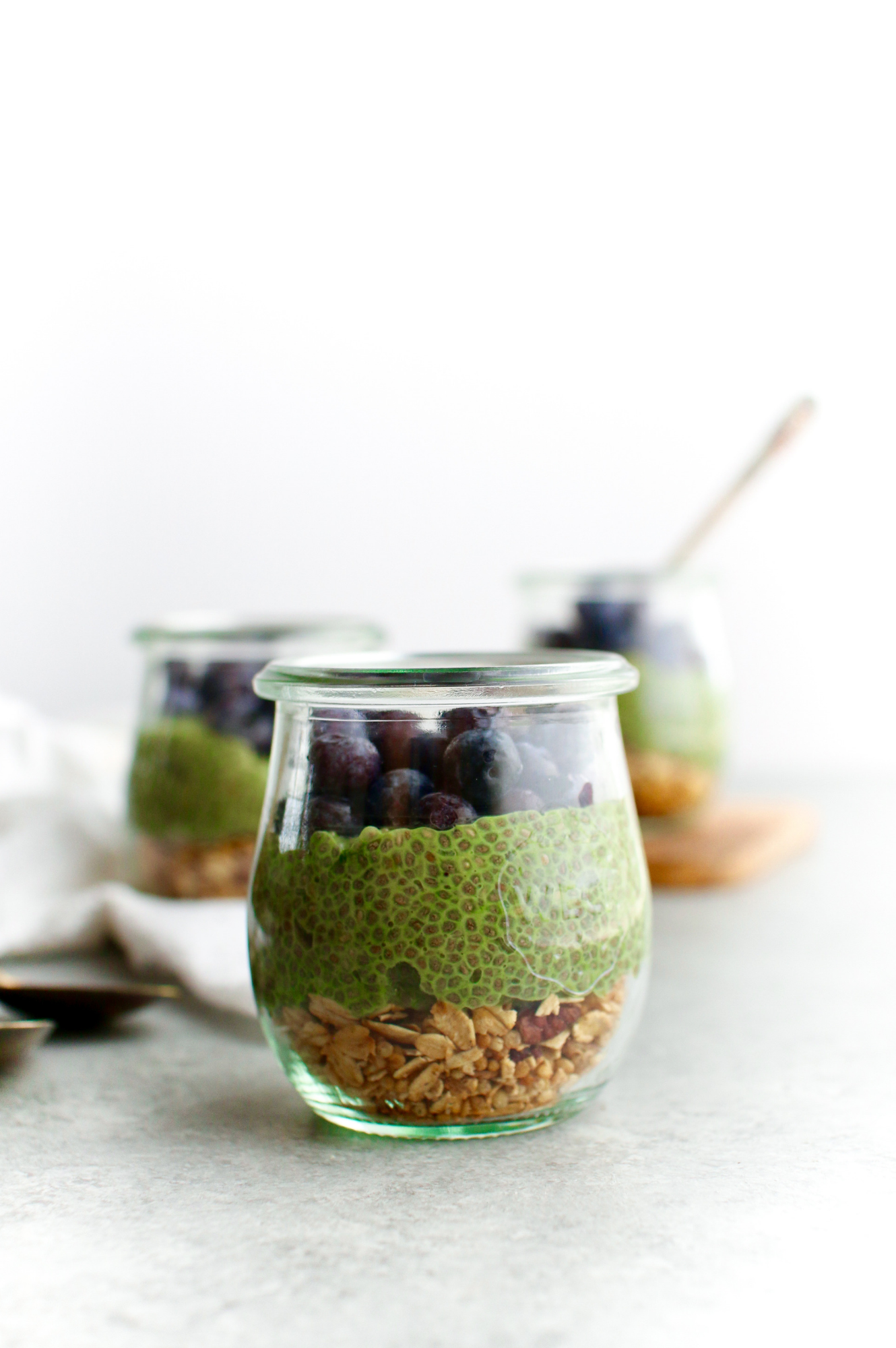 Jade Leaf Matcha Chia Seed Pudding -