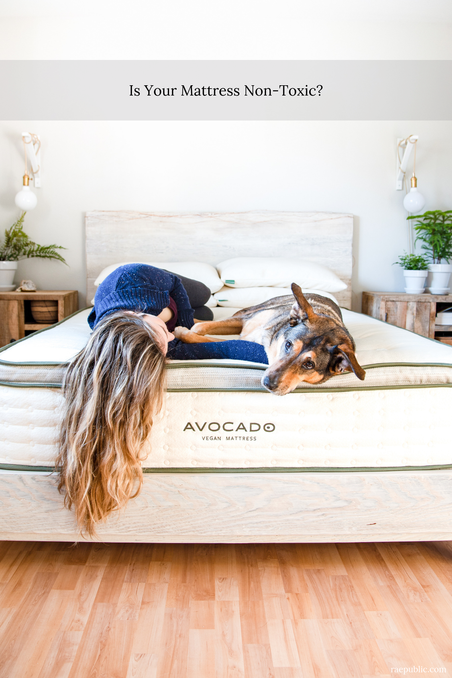 Green mattress that is vegan and non-toxic.