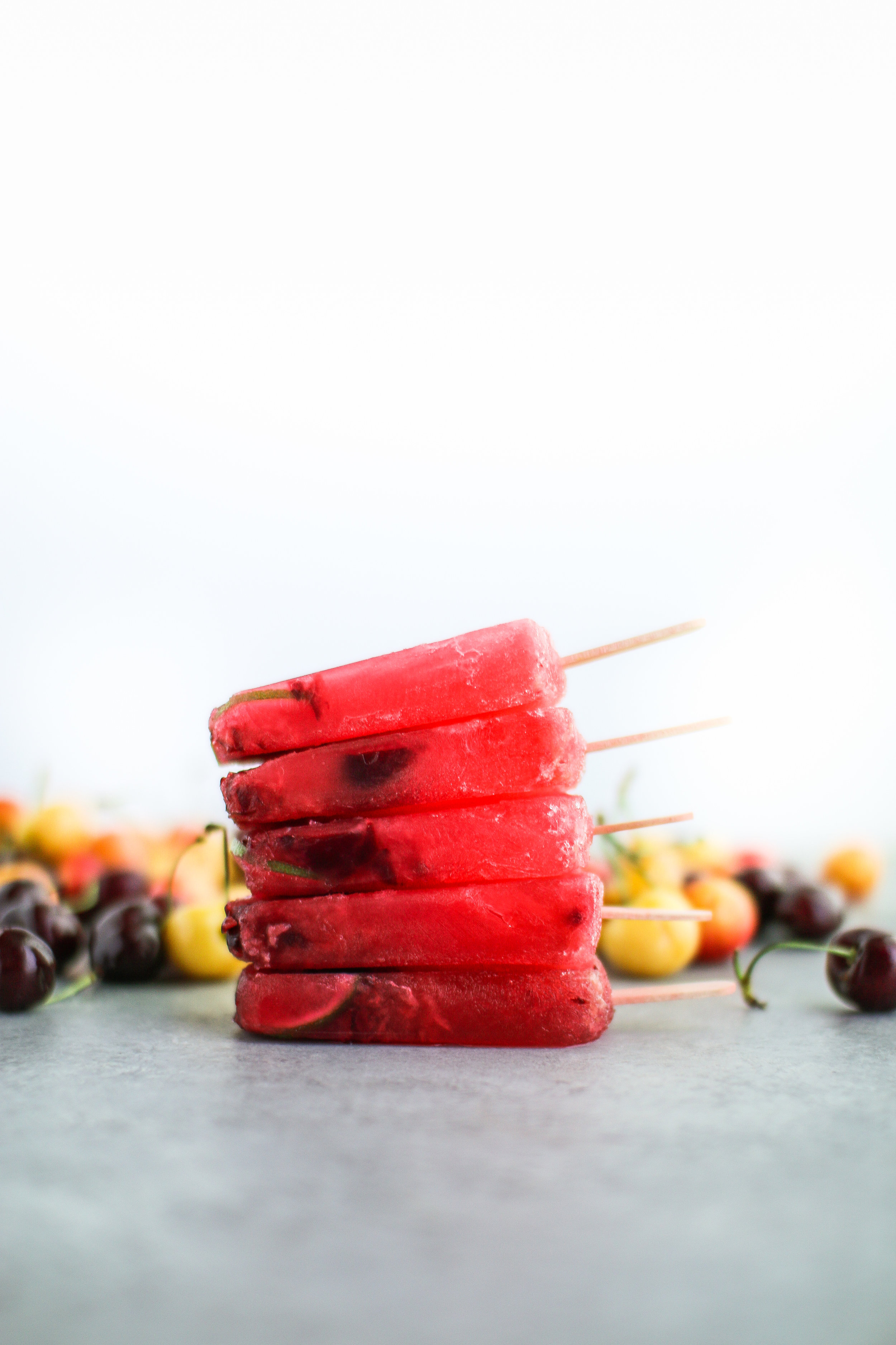 Easy vegan cherry limeade popsicles that are easy to make and as refreshing as can be. They are also packed with vitamin C, vitamin A, and antioxidants.
