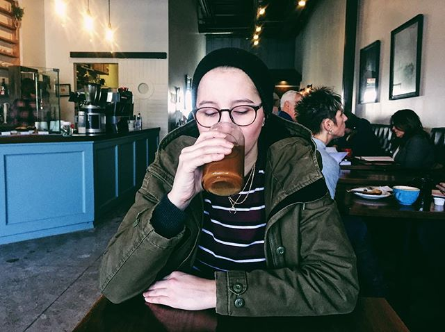 The iced coffee connoisseur tasting a new brew | 2.2.19 • • • #vsco #vscocam #coffee