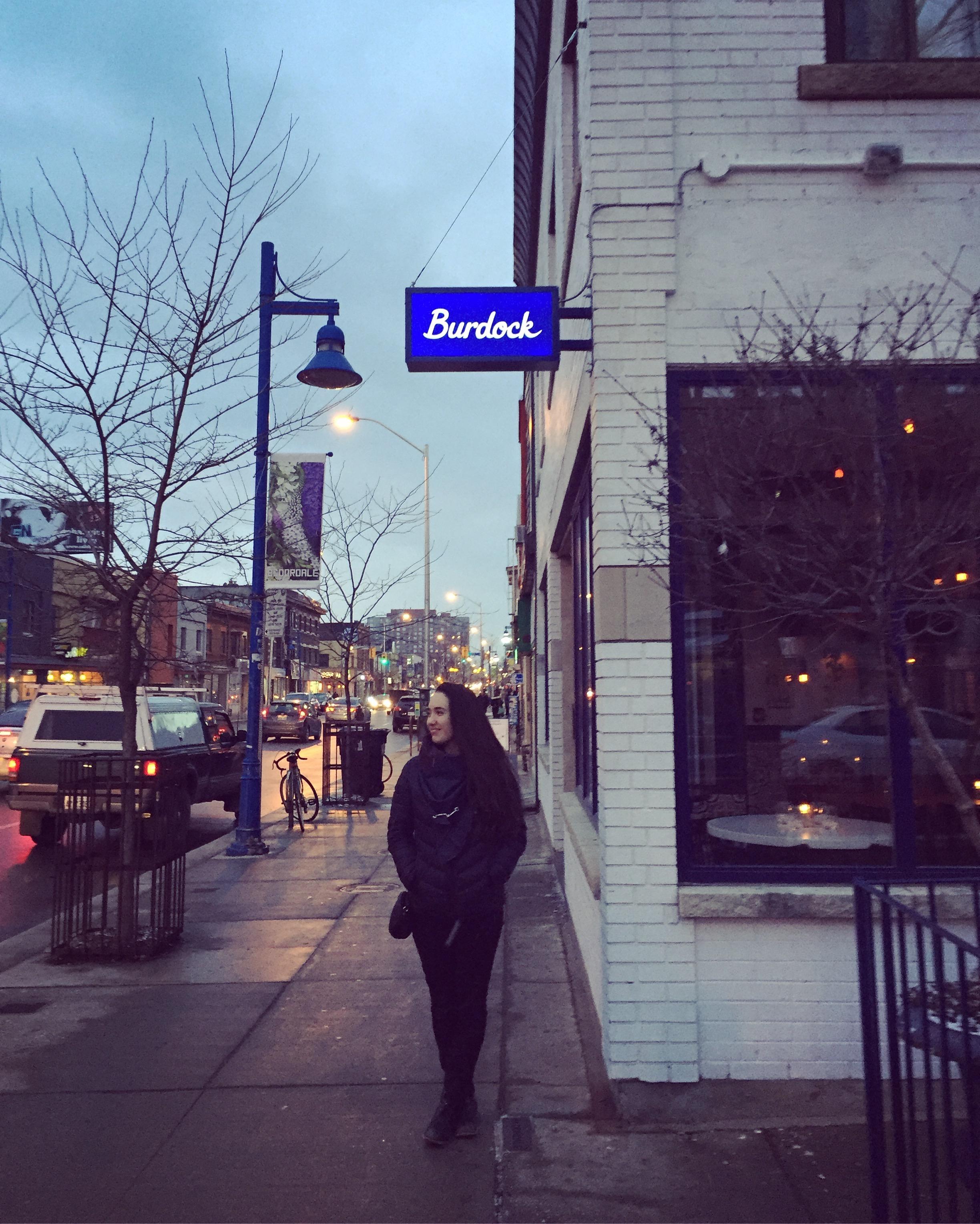 Toronto, ON  – Burdock (our venue)on Bloor Street West