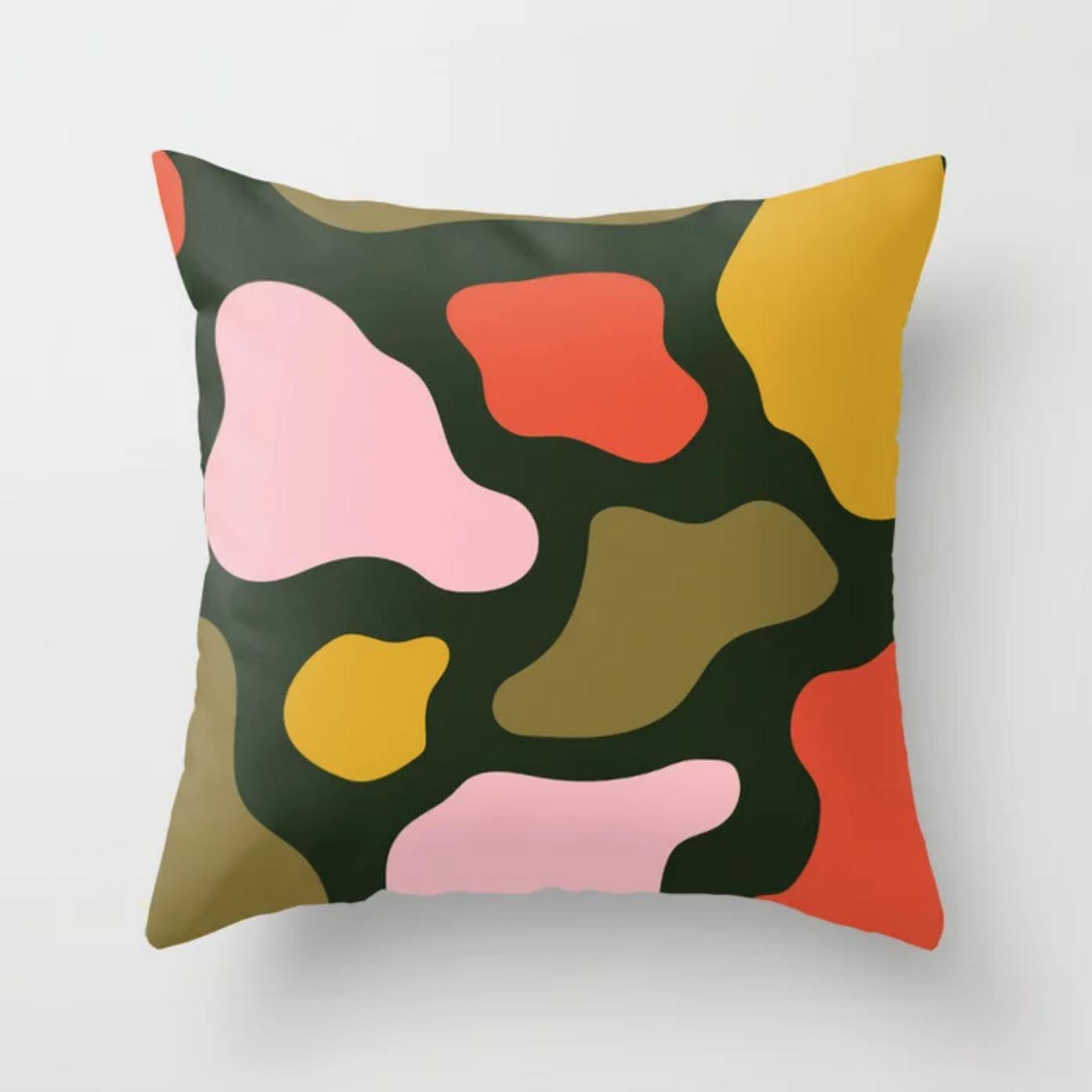 Blobazzo Square Throw Pillow